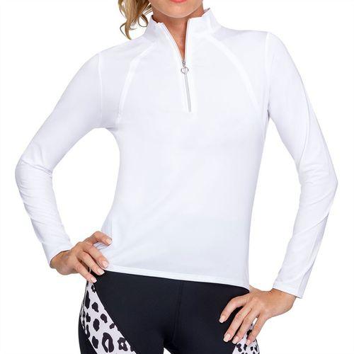 Tail Essentials Amelia Long Sleeve 3/4 Zip Top Womens Chalk TX2680 120X