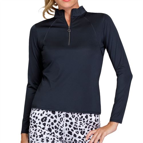 Tail Essentials Amelia Long Sleeve 3/4 Zip Top Womens Onyx TX2680 900X