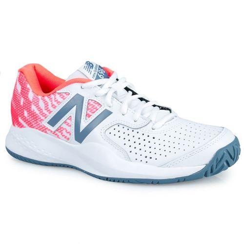 d567f7690919d New Balance WCH696 (B) Womens Tennis Shoe - White/Orange
