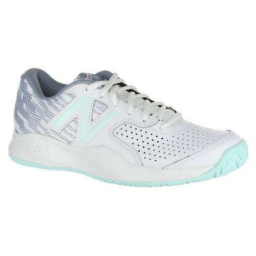 New Balance WCH696E3 (B) Womens Tennis Shoe - White/Light Reef