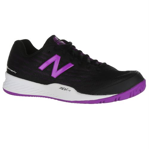 New Balance WCH896B2 (D) Womens Tennis Shoe - Black/Voltage Violet
