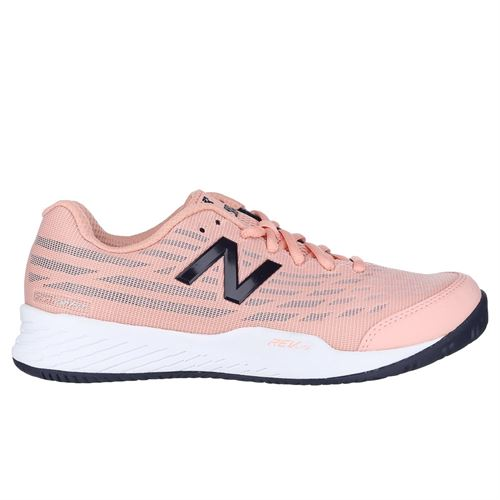 New Balance WC 896 (B) Womens Tennis Shoe - White Peach/Pigment