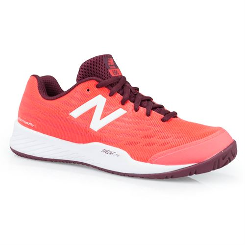 New Balance WCH896V2 (D) Womens Tennis Shoe - Vivid Coral