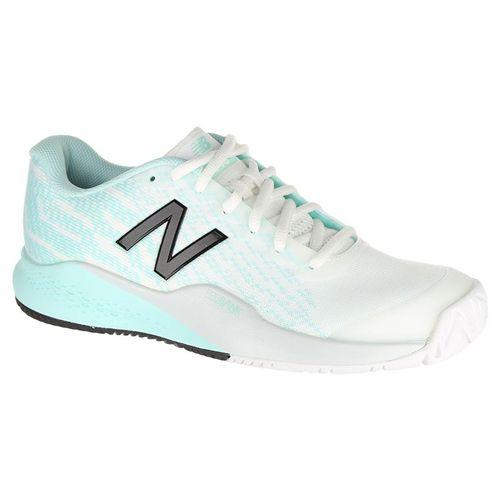 e5043444c96b0 New Balance WCH996K3 (B) Womens Tennis Shoe - White/Mint/Black
