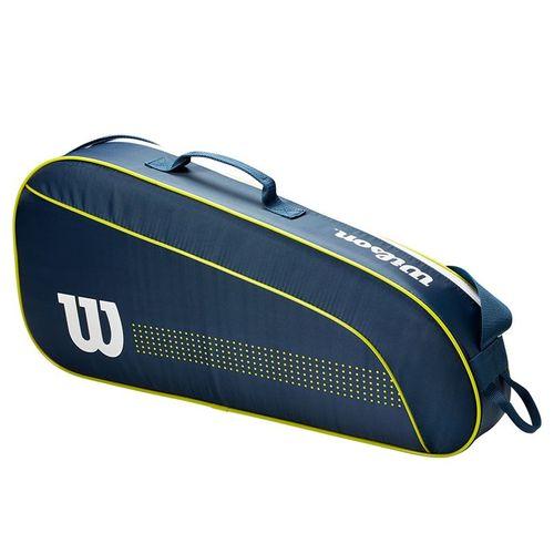 Wilson Junior 3 Pack Tennis Bag - Navy/White/Lime Green