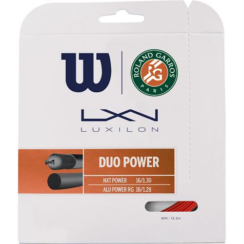 Wilson Duo Power Roland Garros 16L Tennis String - Red Clay