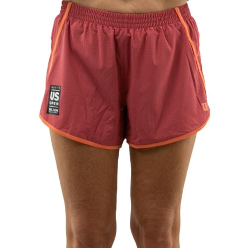 Wilson 2019 US Open Competition Woven 3.5 inch Short Womens Holly Berry WRA775401