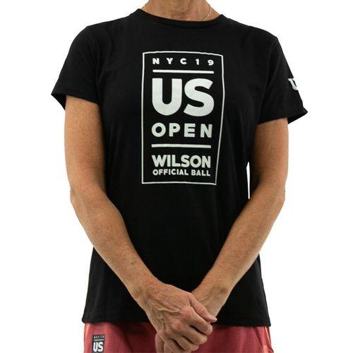 Wilson 2019 US Open Lockup Tee Shirt Womens Black WRAX023BL