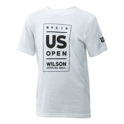 Wilson 2019 US Open Youth Lockup Tee Shirt White WRAX032WH