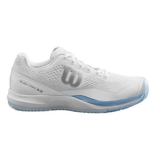 Wilson Rush Pro 3.0 Womens Tennis Shoe - White/Cashmere Blue/Illusion Blue