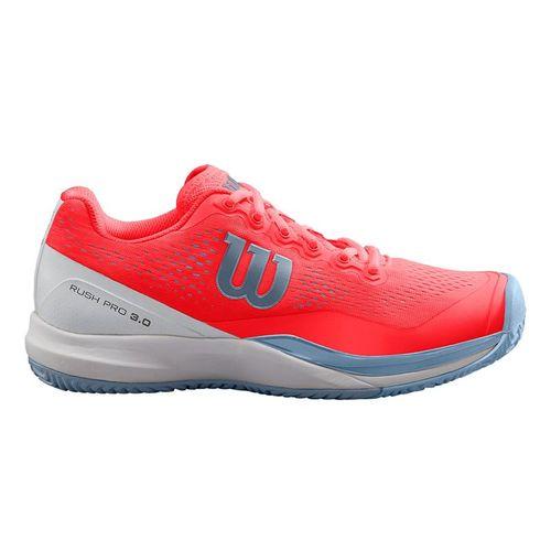 228ebe8a5 Wilson Rush Pro 3.0 Womens Tennis Shoe - Fiery Coral White Cashmere Blue