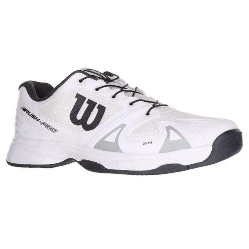c72321c9ebfbd Wilson Rush Pro QL Junior Tennis Shoe - White/Ebony