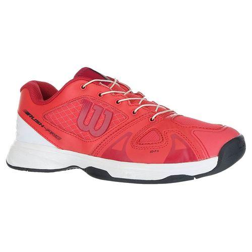 Wilson Rush Pro QL Junior Tennis Shoe - Paradise Pink/White/Barberry