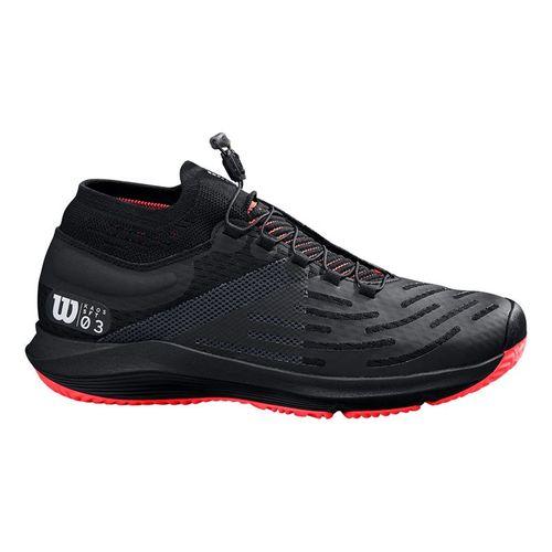 Wilson Kaos 3.0 SFT Mens Tennis Shoe Black/White/Fiery Coral WRS326070