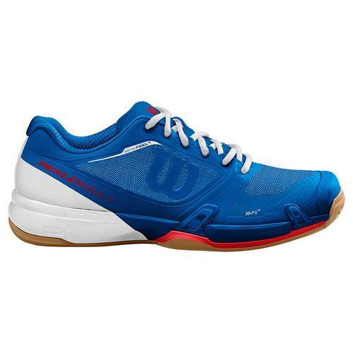 Wilson Rush Pro 2.5 Mens Pickleball Shoe Blue/White/Red WRS327070