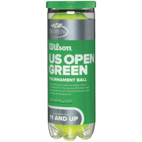 Wilson US Open Green Tournament Transition Tennis Balls (Case)