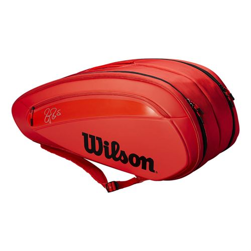 Wilson Federer DNA 12 Pack Tennis Bag - Infrared