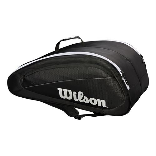 Wilson Federer Team 12 Pack Tennis Bag - Black/White