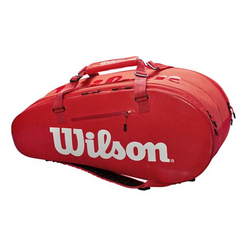 Wilson Super Tour 9 Pack Tennis Bag - Infrared