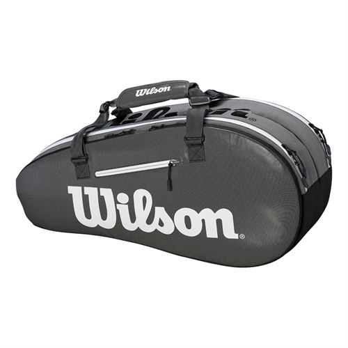 Wilson Super Tour 6 Pack Tennis Bag - Black/Grey