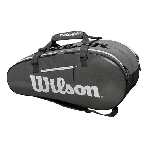 Wilson Super Tour 9 Pack Tennis Bag - Black/Grey