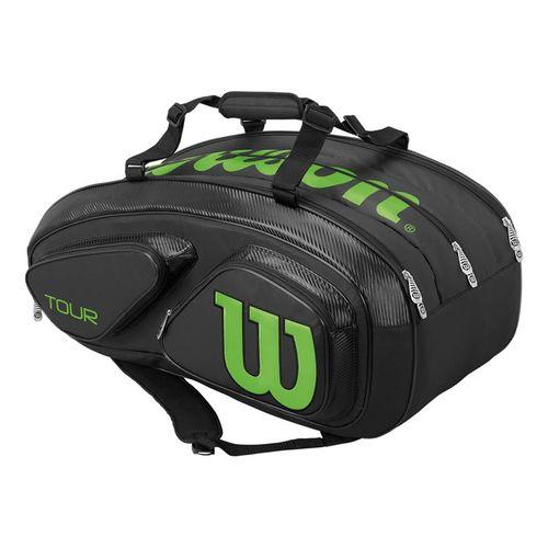 Wilson Tour V 15 Pack Tennis Bag - Black/Lime