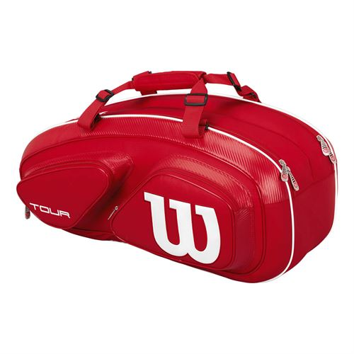 6b1ec98111 Wilson Tour V Red 6 Pack Tennis Bag | Midwest Sports