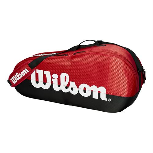 Wilson Team 3 Pack Tennis Bag - Black/Red
