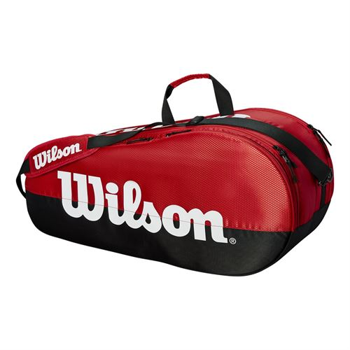 Wilson Team 6 Pack Tennis Bag - Black/Red