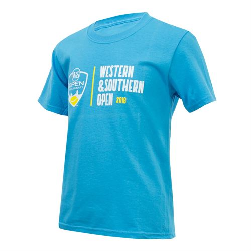 Western and Southern Open Kids Logo Tee - Blue