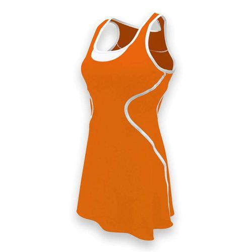 SSI Sophia Tennis Dress - Orange/White