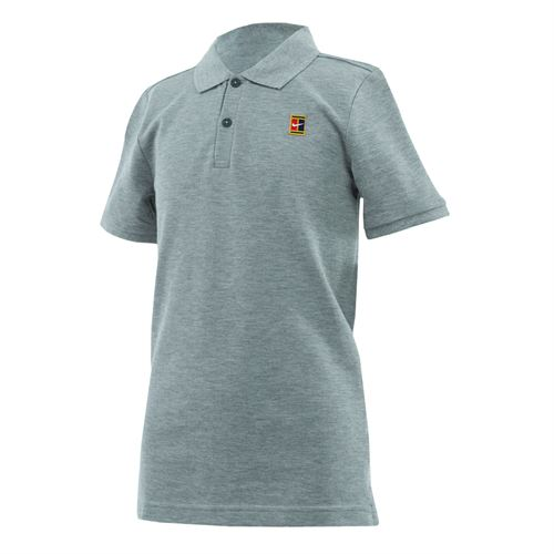 Nike Boys Court Polo - Dark Grey Heather/White