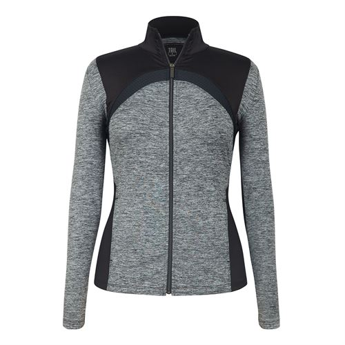 Tail Core Athleisure Full Zip Jacket - Light Grey Space Dye