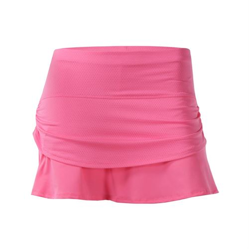 Lucky in Love Girls Tie Dye Pindot Rouched Tier Skirt - Pink