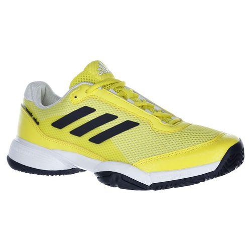 adidas Junior Barricade Club XJ Tennis Shoe - Yellow/Ink/White