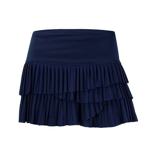 Lucky In Love Pleat Scallop Skirt - Midnight