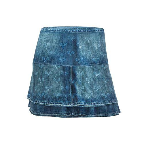 Lucky in Love American Love Story Long Denim Racket Skirt - Dark Denim