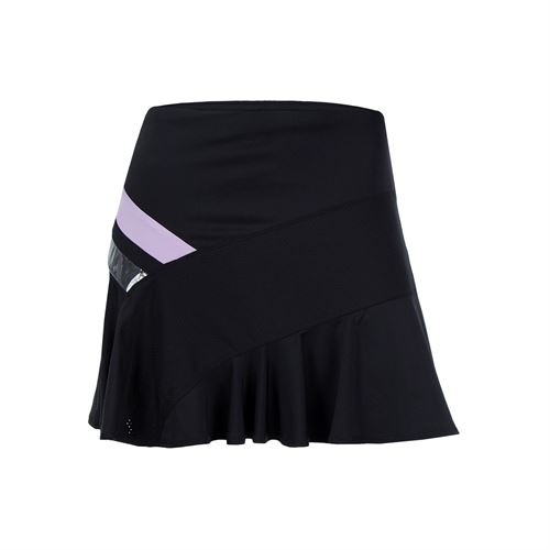 Lucky in Love Hyper Wave Long Asymmetrical Skirt - Viola