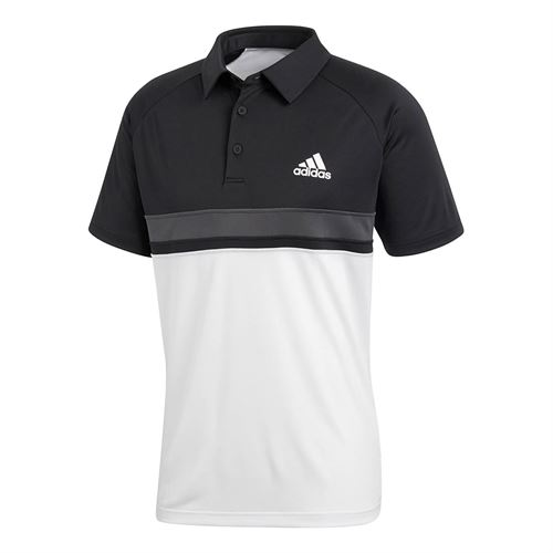 adidas Club Color Block Polo - Black/White