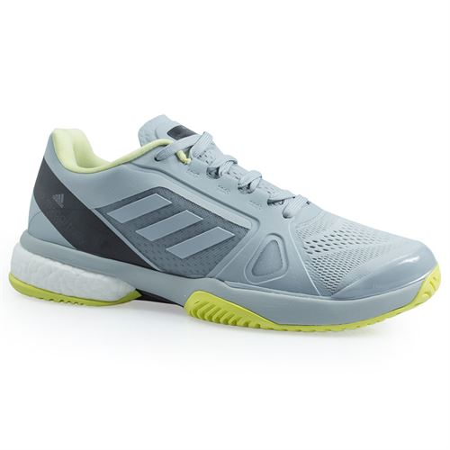 adidas Stella McCartney Barricade Boost Womens Tennis Shoe - Eggshell Grey/Aero Lime/Core Black