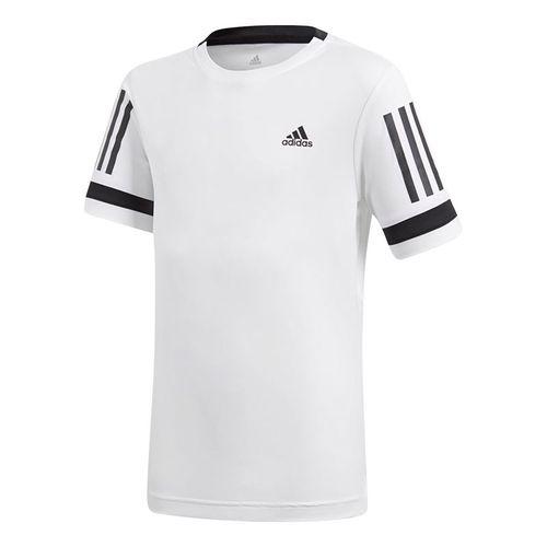 adidas Boys Club 3 Stripes Crew - White