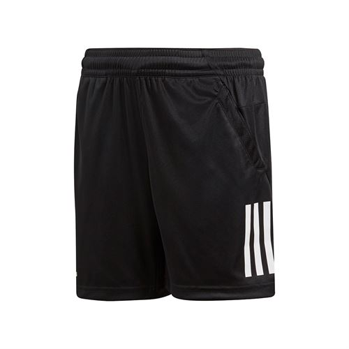 adidas Boys Club 3 Stripe Short - Black