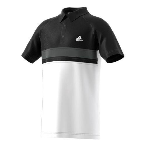 adidas Boys Club Color Block Polo - White