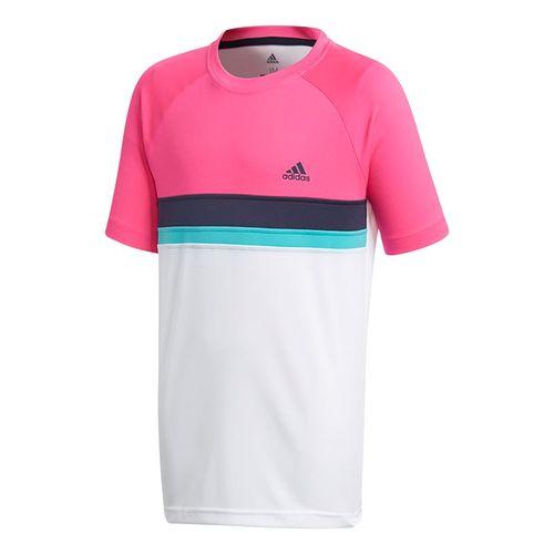 adidas Boys Club Color Block Crew - Shock Pink