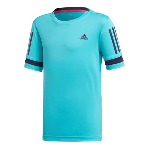 adidas Boys Club 3 Stripe Crew - Hi Res Aqua