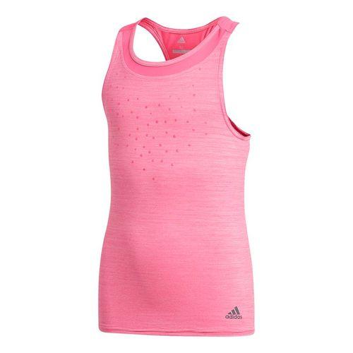 adidas Girls Dotty Tank - Shock Pink