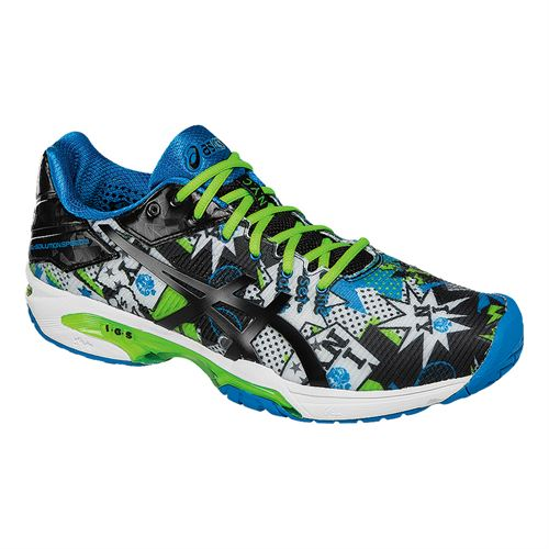 Asics Gel Solution Speed 3 NYC Limited Edition Mens Tennis Shoe - White/Black/Green Gecko E618N 0190