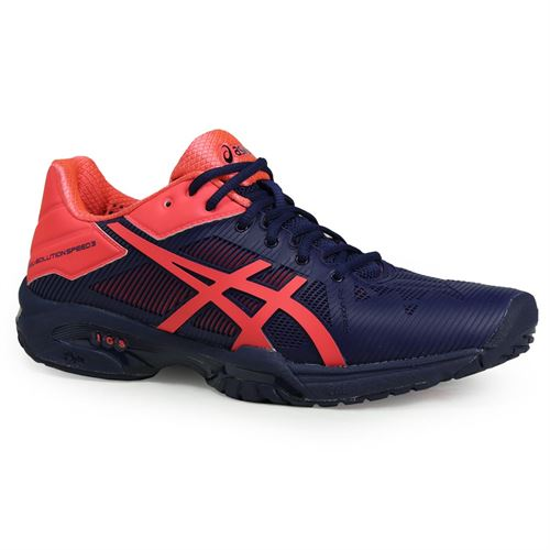 Asics Gel Solution Speed 3 Womens Tennis Shoe - Indigo Blue/Diva Pink