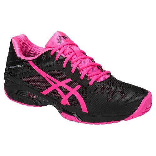 Asics Gel Solution Speed Womens Tennis Shoe - Black/Hot Pink/Silver