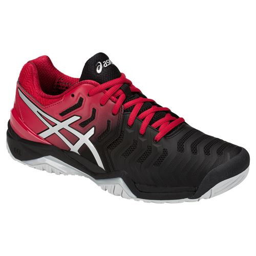 abed6c509c9ed Asics Gel Resolution 7 Mens Tennis Shoe - Black Silver